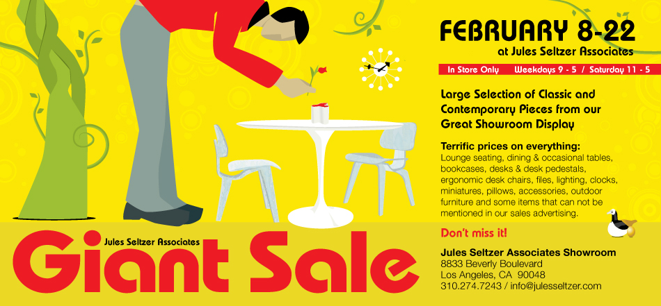 Modern Design Sale at Jules Seltzer Feb 8-22