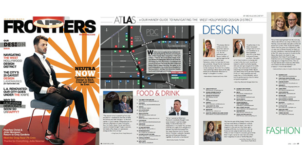 "Frontiers ""Handy Guide"" to the WeHo Design District"