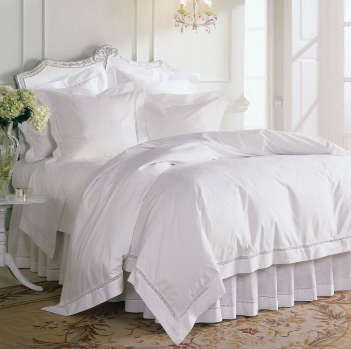 Sferra linens and bedding, available at Mayfair House in the West Hollywood Design District